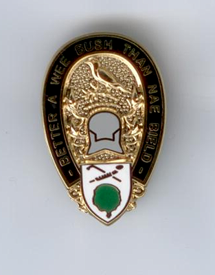 Badge - 'Better a wee bush than nae bield'