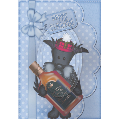 Birthday Scottie Decoupage Card
