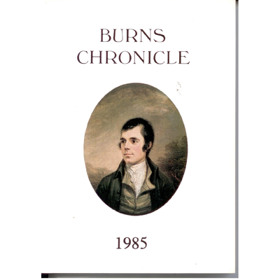 Burns Chronicle - 1985
