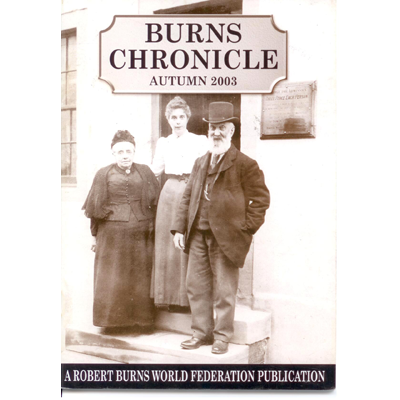 Burns Chronicle - Autumn 2003