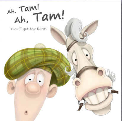 Robert Burns - 'Ah Tam, Ah Tam' (white background) card