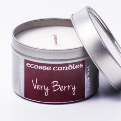 Candle - Small Tin - Very Berry